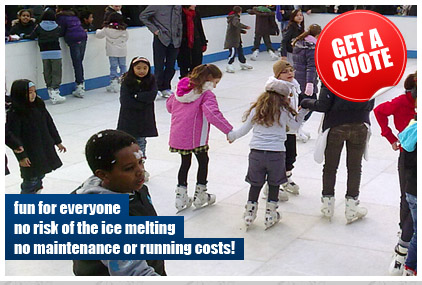 Ice Rink Hire throughout Great Britain. Supplying The best Synthetic Ice Rinks for all occasions!